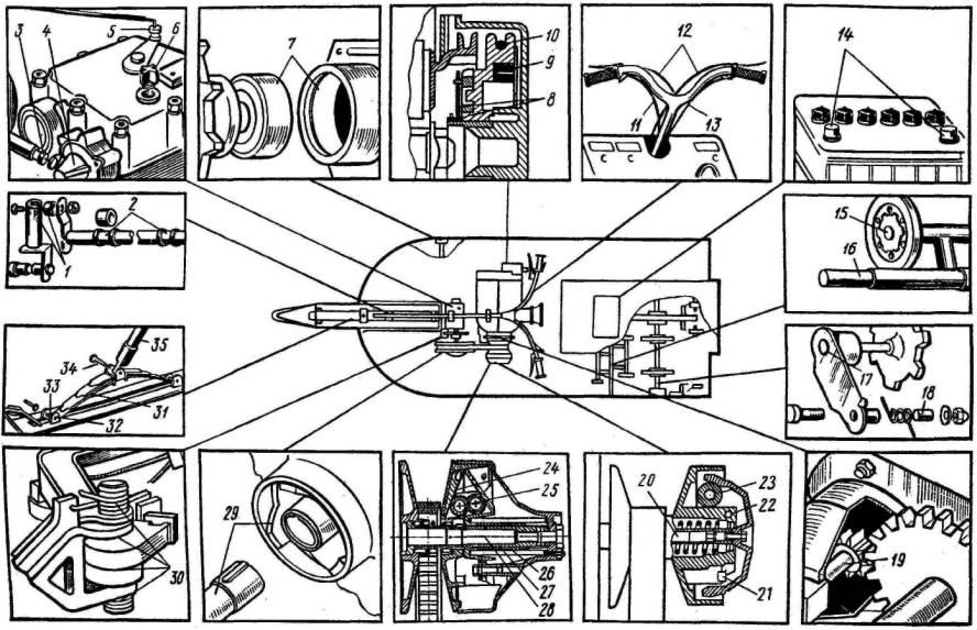 Способнанесения смазочных материалов.  Посадочная поверхность шкива ручного...  Смазка ОКБ-122-7 ГОСТ 18179-72.